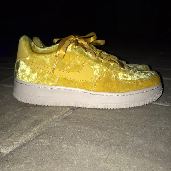 Nike Other - Nike Air Force 1 Yellow Velvet
